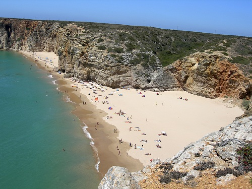 Algarve beach aerial view