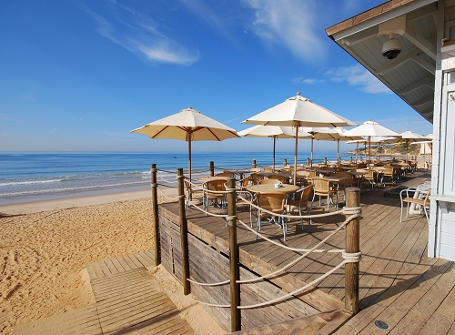 Algarve beach restaurant