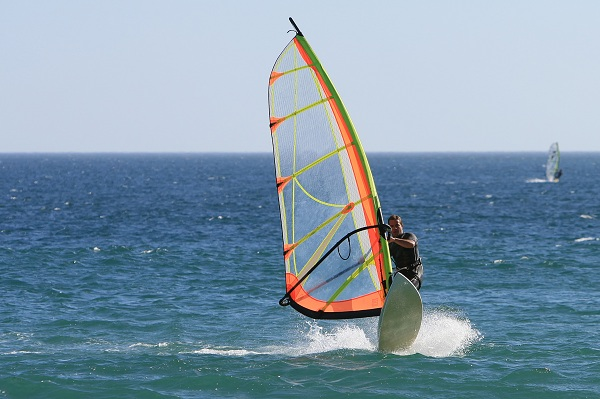 Blue Flag beach windsurfing Algarve Portugal