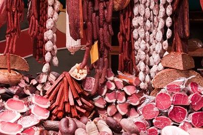 Algarve farmers market - meat stall