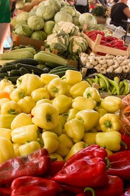 Algarve farmers market veg stall