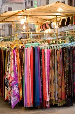 Algarve market sarong stall