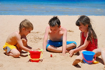 Kids on Algarve beach
