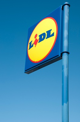 Lidl shop sign