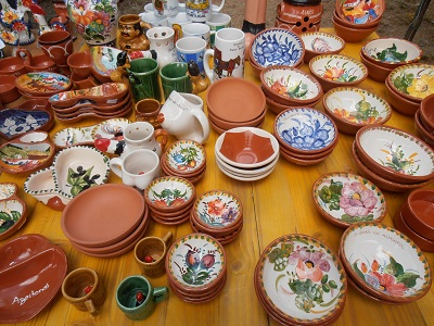 Traditional Pottery at Algarve Markets Portugal