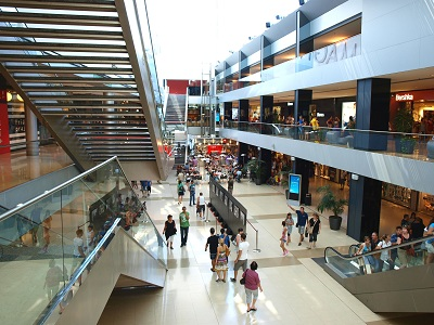 Typical shopping mall