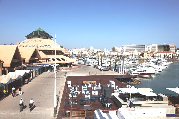 Vilamoura marina and town