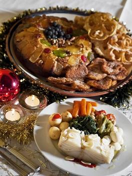 Traditional algarve christmas food