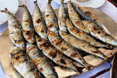 Sardines Ready for Eating Algarve Portugal
