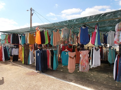 Cloths at the gypsy market