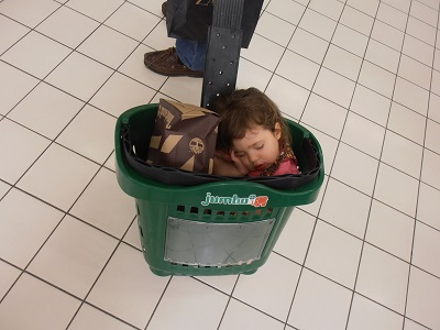 Child in Jumbo basket
