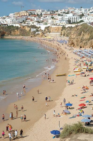 Albufeira town and beach
