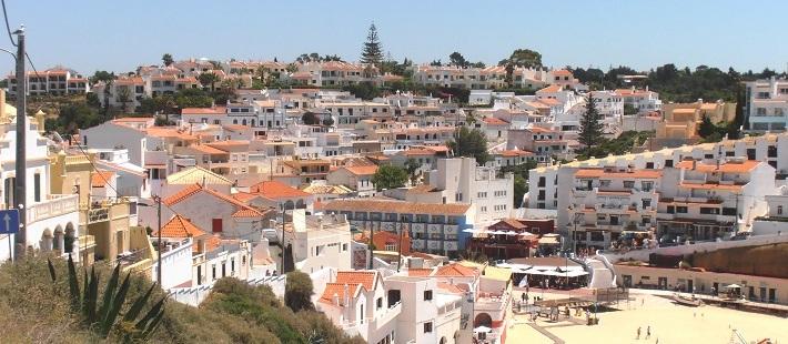 Paisagem do Carvoeiro Algarve Portugal