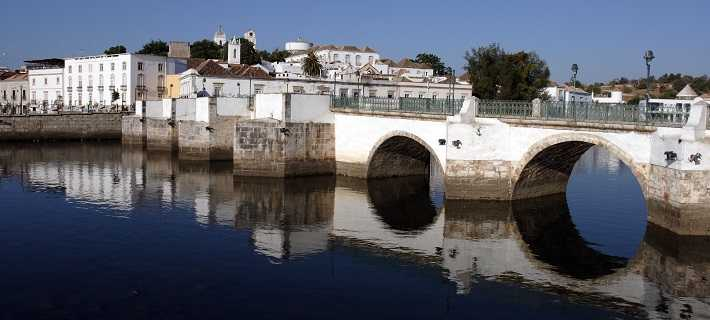 Tavira Algarve Bridge and Canal