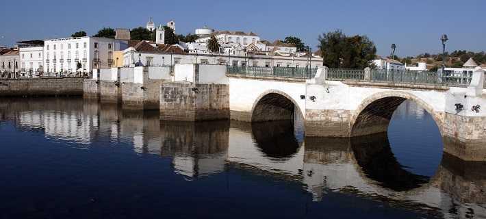 Tavira Algarve Bridge and Canal