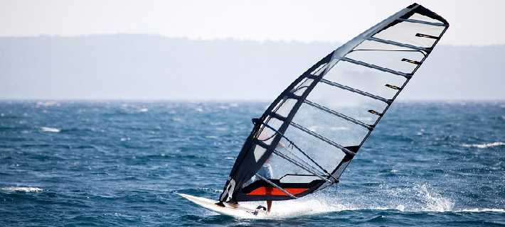 Sailboarding in the Algarve