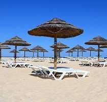 Sun Bathing on Algarve Blue Flag Beach
