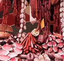 Algarve Markets Meat Display Portugal