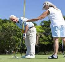 Couple Golfing in the Algarve