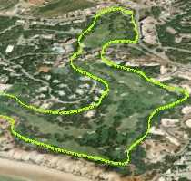 Aerial view of Pine Cliffs Golf Algarve
