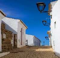 Pedralva Street with lamps