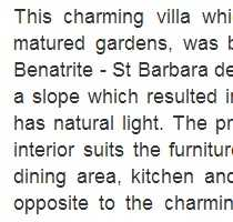 Professional Property Description