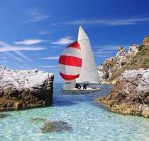 Sailing the Algarve coast